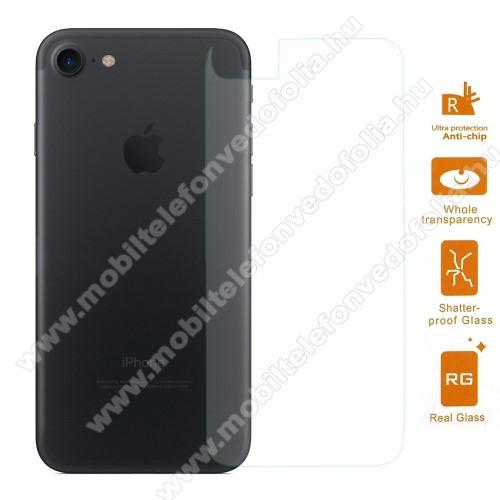 APPLE iPhone 7Hátlap védő karcálló edzett üveg - 0,3 mm vékony, 9H, Arc Edge, A hátlap sík részét védi - APPLE iPhone SE (2020) / APPLE iPhone 7 / APPLE iPhone 8