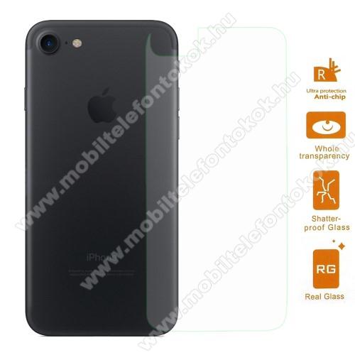 Hátlap védő karcálló edzett üveg - 0,3 mm vékony, 9H, Arc Edge, A hátlap sík részét védi - APPLE iPhone 7 (4.7) / APPLE iPhone 8 (4.7)
