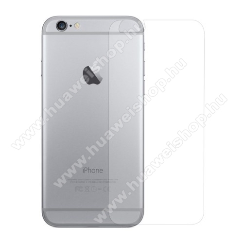 Hátlap védő karcálló edzett üveg - 0,3 mm vékony, 9H, Arc Edge, A hátlap sík részét védi - APPLE iPhone 6 / APPLE iPhone 6s