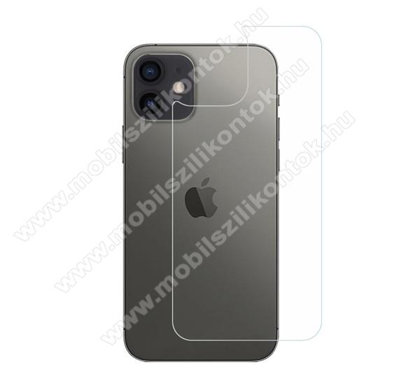 Hátlapvédő karcálló edzett üveg - 0,3 mm vékony, 9H, Arc Edge, A hátlap sík részét védi - APPLE iPhone 12 / APPLE iPhone 12 Pro