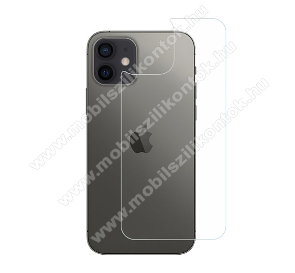 Hátlapvédő karcálló edzett üveg - 0,3 mm vékony, 9H, Arc Edge, A hátlap sík részét védi - APPLE iPhone 12 mini
