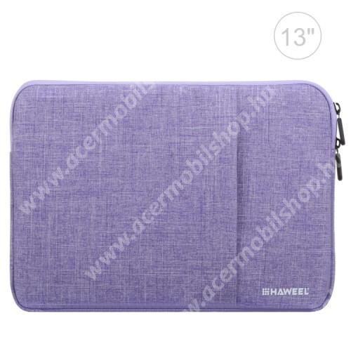 """ACER Iconia Tab A200 HAWEEL Tablet / Laptop UNIVERZÁLIS tok / táska - LILA - Szövet, bársony belső, 2 különálló zsebbel, ütődésálló, vízálló - ERŐS VÉDELEM! - 11""""-os készülékekig használható, 300 x 205 x 20mm"""