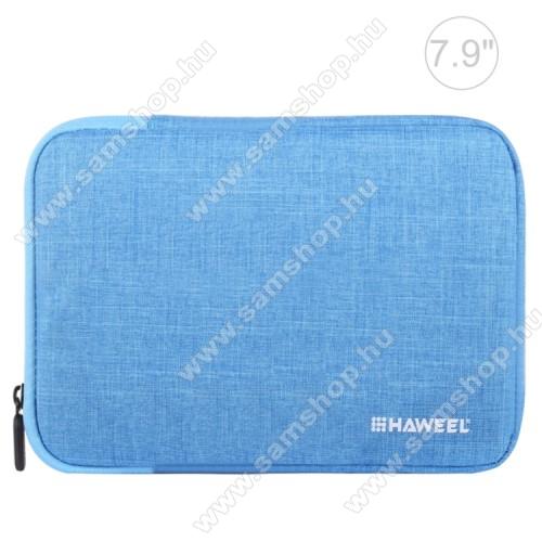 SAMSUNG Galaxy Tab (P1010)HAWEEL Tablet / Laptop UNIVERZÁLIS tok / táska - KÉK - Szövet, bársony belső, 2 különálló zsebbel, ütődésálló, vízálló - ERŐS VÉDELEM! - 7,9