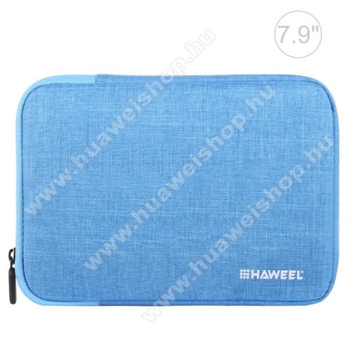 HAWEEL Tablet / Laptop UNIVERZÁLIS tok / táska - KÉK - Szövet, bársony belső, 2 különálló zsebbel, ütődésálló, vízálló - ERŐS VÉDELEM! - 21 x 14,5 x 2 cm