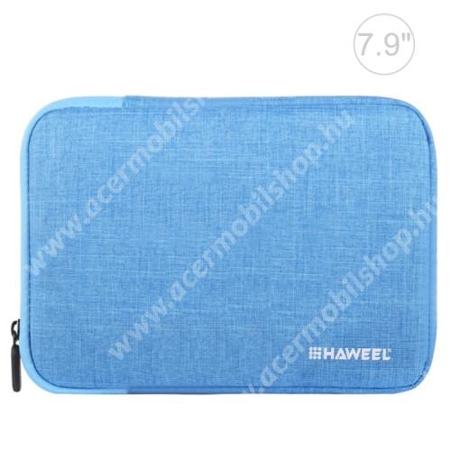 """ACER Iconia Tab A1-811 HAWEEL Tablet / Laptop UNIVERZÁLIS tok / táska - KÉK - Szövet, bársony belső, 2 különálló zsebbel, ütődésálló, vízálló - ERŐS VÉDELEM! - 7,9""""-os készülékekig használható, 210 x 145 x 20 mm"""