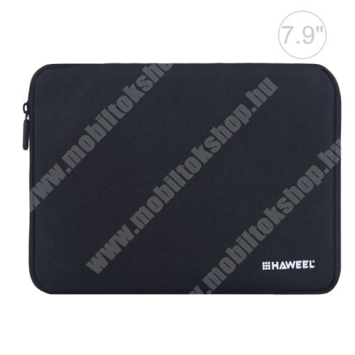 """PRESTIGIO MultiPad 7.0 PRIME DUO HAWEEL Tablet / Laptop UNIVERZÁLIS tok / táska - FEKETE - Szövet, bársony belső, 2 különálló zsebbel, ütődésálló, vízálló - ERŐS VÉDELEM! - 7,9""""-os készülékekig használható, 210 x 145 x 20 mm"""