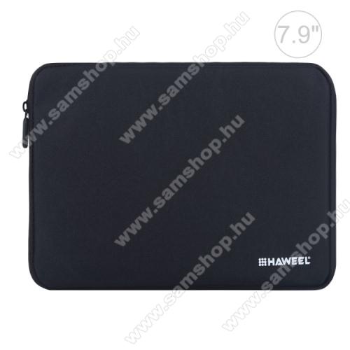 SAMSUNG Galaxy Tab 7.0 Plus (P6200)HAWEEL Tablet / Laptop UNIVERZÁLIS tok / táska - FEKETE - Szövet, bársony belső, 2 különálló zsebbel, ütődésálló, vízálló - ERŐS VÉDELEM! - 7,9