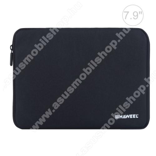ASUS Memo Pad 7 ME176CHAWEEL Tablet / Laptop UNIVERZÁLIS tok / táska - FEKETE - Szövet, bársony belső, 2 különálló zsebbel, ütődésálló, vízálló - ERŐS VÉDELEM! - 7,9