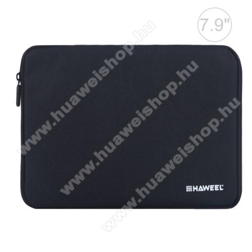 HUAWEI MediaPad M3 Lite 8HAWEEL Tablet / Laptop UNIVERZÁLIS tok / táska - FEKETE - Szövet, bársony belső, 2 különálló zsebbel, ütődésálló, vízálló - ERŐS VÉDELEM! - 7,9