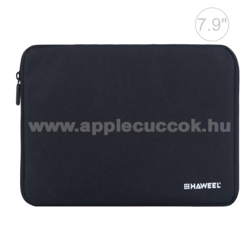 APPLE iPad mini 2HAWEEL Tablet / Laptop UNIVERZÁLIS tok / táska - FEKETE - Szövet, bársony belső, 2 különálló zsebbel, ütődésálló, vízálló - ERŐS VÉDELEM! - 7,9