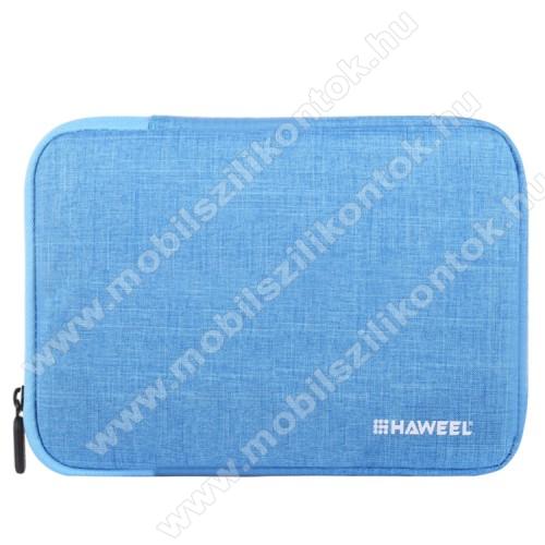 HAWEEL Tablet / Laptop UNIVERZÁLIS tok / táska - KÉK - Szövet, bársony belső, 2 különálló zsebbel, ütődésálló, vízálló - ERŐS VÉDELEM! - 9,7