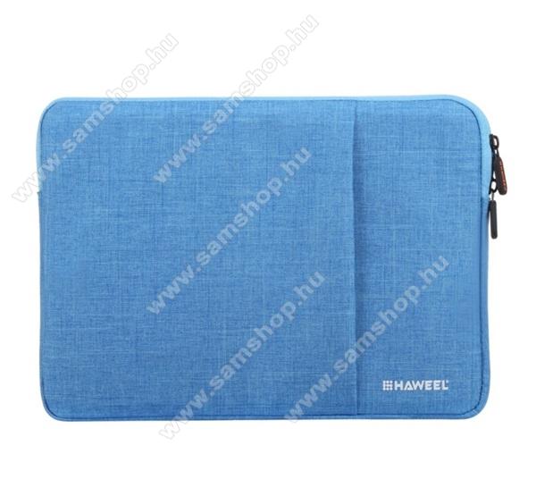 HAWEEL Tablet / Laptop UNIVERZÁLIS tok / táska - KÉK - Szövet, bársony belső, 2 különálló zsebbel, ütődésálló, vízálló - ERŐS VÉDELEM! - 15