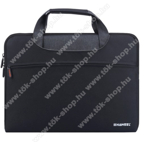 HAWEEL UNIVERZÁLIS Laptop tok / táska - FEKETE - vízálló szövet, bársony belső, különálló zsebekkel, dupla cipzár, ütődésálló, hordozható - ERŐS VÉDELEM! - 415 x 320 x 250mm - Max 15