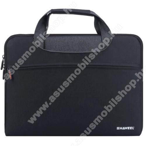 ASUS Transformer Pad TF303CLHAWEEL UNIVERZÁLIS Laptop tok / táska - FEKETE - vízálló szövet, bársony belső, különálló zsebekkel, dupla cipzár, ütődésálló, hordozható - ERŐS VÉDELEM! - 415 x 320 x 250mm - Max 15