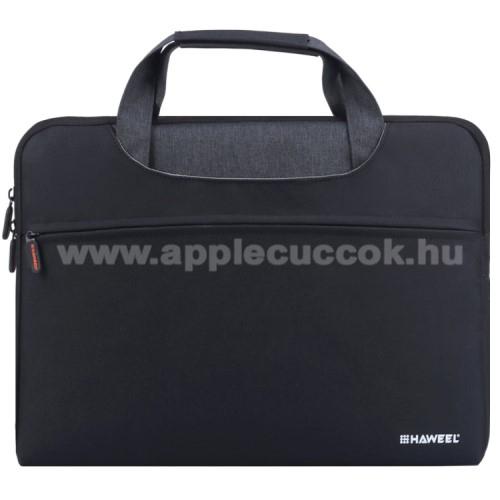 APPLE iPad Pro 12.9 (2017)HAWEEL UNIVERZÁLIS Laptop tok / táska - FEKETE - vízálló szövet, bársony belső, különálló zsebekkel, dupla cipzár, ütődésálló, hordozható - ERŐS VÉDELEM! - 415 x 320 x 250mm - Max 15