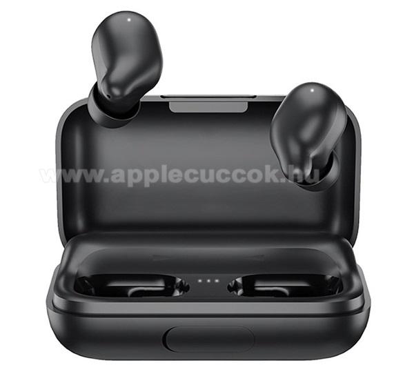 APPLE iPad Pro 12.9 (2017)HAYLOU T15 bluetooth SZTEREO fülhallgató - FEKETE - v5.0, TWS, mikrofon, zajszűrő, érintésvezérlés, IPX5, 2200mAh töltőtok - T15_B - GYÁRI