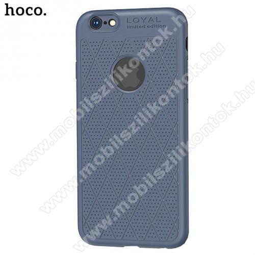 HOCO ADMIRE szilikon védő tok / hátlap (ultravékony, 0.8 mm, lyukacsos, rombusz minta, logó kivágás) KÉK - APPLE iPhone 6 Plus 5.5 /APPLE iPhone 6S Plus 5.5 - GYÁRI