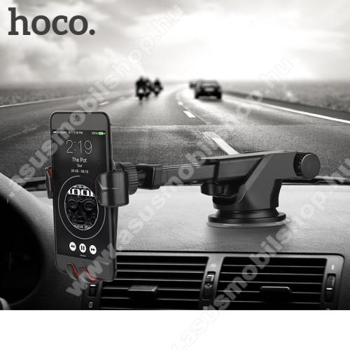 ASUS Zenfone AR (ZS571KL)HOCO CA24 autós tartó / állvány - 360°-ban forgatható, 9,6-14cm-ig állítható teleszkópos kar, tapadókorongos - FEKETE - GYÁRI