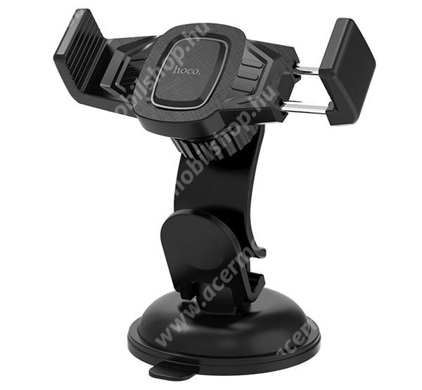ACER Liquid X1 HOCO CA40 univerzális autós / gépkocsi tartó - FEKETE - tapadókorongos, szélvédőre vagy műszerfalra rögzíthető, 360°-ban forgatható - CA40 - GYÁRI