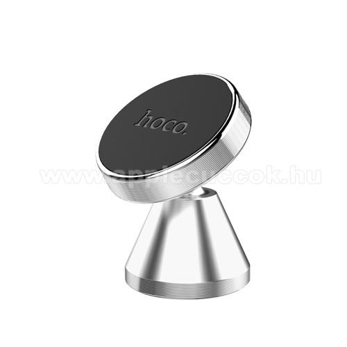 APPLE iPhone SEHOCO CA46 Magnetic autós / gépkocsi tartó - mágneses, műszerfalra ragasztható, 360°-ban forgatható,  34 x 50mm - EZÜST - CA46 - GYÁRI