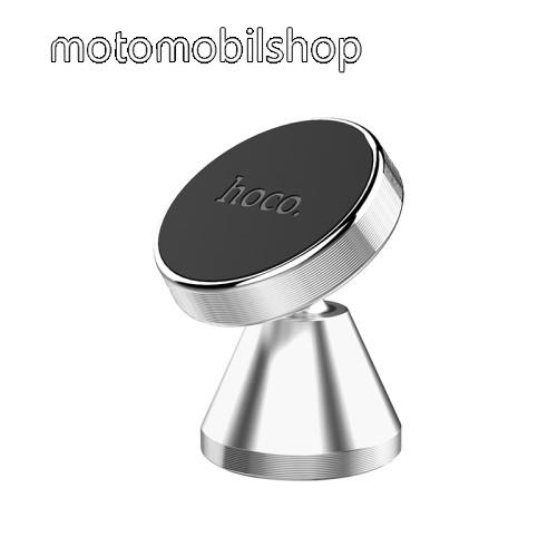 MOTOROLA Wilder (EX130) HOCO CA46 Magnetic autós / gépkocsi tartó - mágneses, műszerfalra ragasztható, 360°-ban forgatható,  34 x 50mm - EZÜST - CA46 - GYÁRI