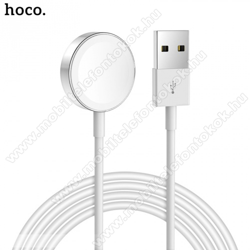 APPLE Watch SE 40mm HOCO CW16 Okosóra USB töltő - FEKETE - mágneses, 1m - APPLE Watch Series 1/2/3/4 - GYÁRI