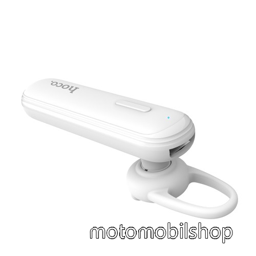 HOCO E36 bluetooth headset - FEHÉR - V4.2, beépített mikrofon, fülbe dugható, beépített 70mAh akkumulátor - GYÁRI