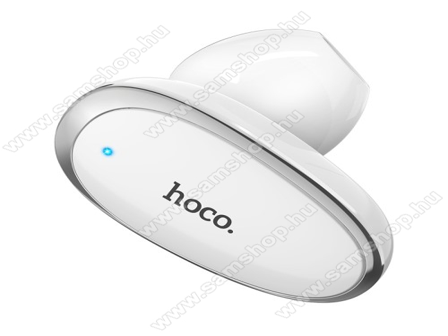 HOCO E46 mini bluetooth headset - FEHÉR - V4.2 WT, beépített mikrofon, fülbe dugható, beépített 50mAh akkumulátor - GYÁRI