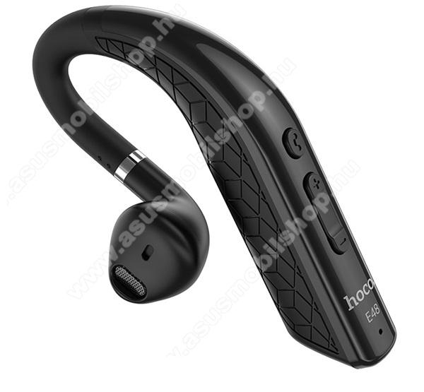 HOCO E48 SUPERIOR bluetooth headset - FEKETE - v4.2, mikrofon, multipoint - E48_BK2 - GYÁRI