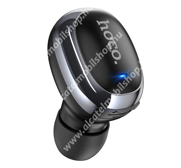 HOCO E54 MINI UNIVERZÁLIS MONO bluetooth headset - v5.0, mikrofon, 4 óra beszélgetési idő, 40mAh beépített akkumulátor - FEKETE - E54_B - GYÁRI