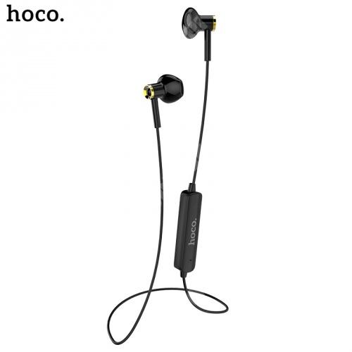 HOCO ES21 BLUETOOTH fülhallgató SZTEREO (v4.1, nyakba akasztható, mikrofon, lapos kábel, multipoint, SPORT) FEKETE - ES21 - GYÁRI