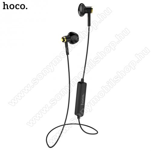 SONY Xperia M DUALHOCO ES21 BLUETOOTH fülhallgató SZTEREO (v4.1, nyakba akasztható, mikrofon, lapos kábel, multipoint, SPORT) FEKETE - ES21 - GYÁRI
