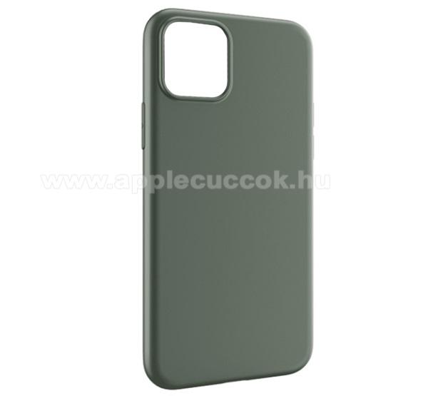 HOCO FASCINATION szilikon védő tok / hátlap - MATT ZÖLD - APPLE iPhone 11 - GYÁRI