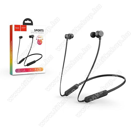 HOCO Graceful ES29 sztereo sport buetooth headset - FEKETE - v5.0, felvevő és hangerő szabályzó gombok, 180mAh beépített akkumulátor, 16 óra zenehallgatási idő - ES29 - GYÁRI