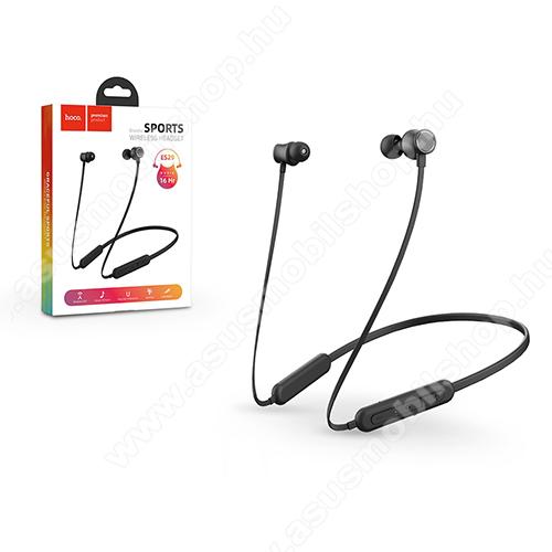 ASUS Zenfone 2 Laser (ZE500KL)HOCO Graceful ES29 sztereo sport buetooth headset - FEKETE - v5.0, felvevő és hangerő szabályzó gombok, 180mAh beépített akkumulátor, 16 óra zenehallgatási idő - ES29 - GYÁRI