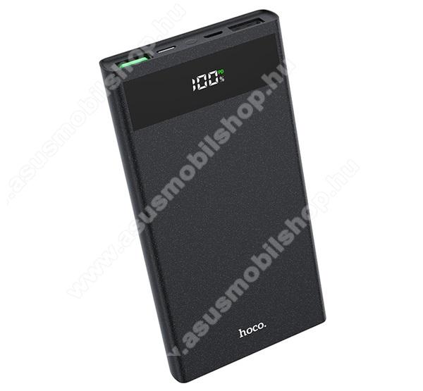ASUS Fonepad 7 (2015) FE375CLHOCO J49 vésztöltő töltő / hordozható töltő - belső 10000 mAh akku, USB, microUSB aljzat, 5V / 4200mA, LED kijelző - FEKETE - J49_B - GYÁRI