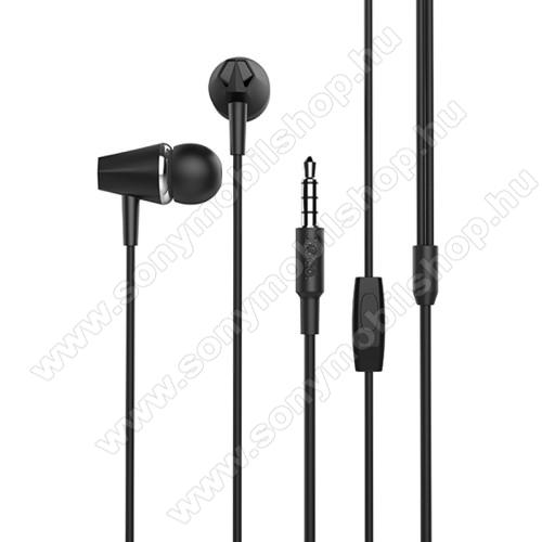 SONY Xperia M DUALHOCO M34 sztereo headset - 3,5mm Jack, mikrofon, felvevő gomb, 1,2 m vezetékkel - FEKETE