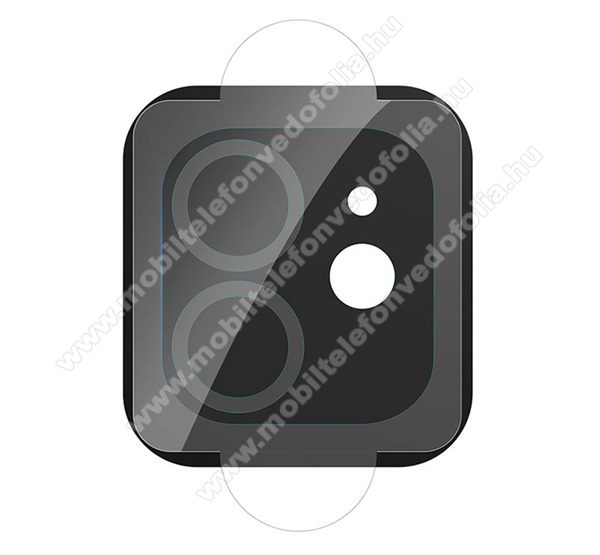 HOCO V11 kamera lencsevédő karcálló edzett üveg - 1db, törlőkendővel, 0.25mm, 2.15D, 9H - APPLE iPhone 12 mini - GYÁRI