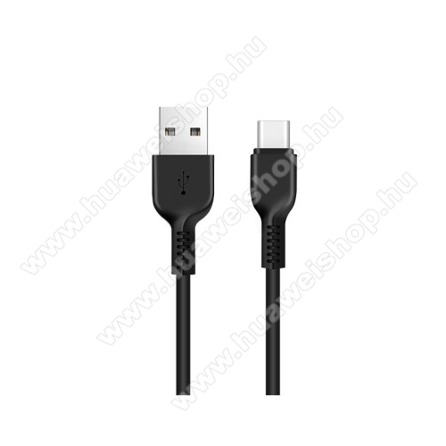 HUAWEI nova 5iHOCO X13 adatátviteli kábel / USB töltő - USB 3.1 Type C, 1m, 2A - FEKETE - GYÁRI