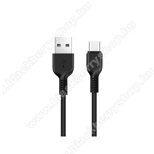 HOCO X13 adatátviteli kábel / USB töltő - USB 3.1 Type C, 1m, 2A - FEKETE - GYÁRI