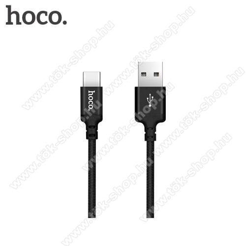 HOCO X14 2A adatátviteli kábel / USB töltő - USB 3.1 Type C, 1m - FEKETE