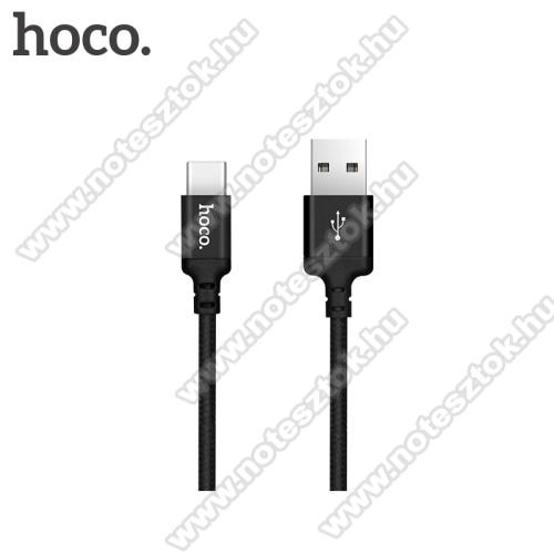 NOKIA 7.1HOCO X14 2A adatátviteli kábel / USB töltő - USB 3.1 Type C, 1m - FEKETE
