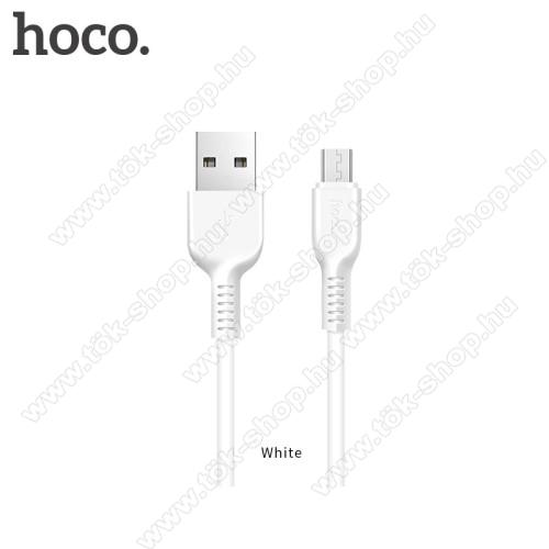 Huawei Enjoy 10HOCO X20 2A adatátvitel adatkábel / USB töltő - USB / microUSB, 1m - FEHÉR