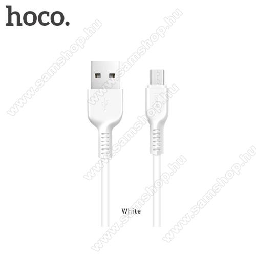 SAMSUNG GT-E2200HOCO X20 2A adatátvitel adatkábel / USB töltő - USB / microUSB, 1m - FEHÉR