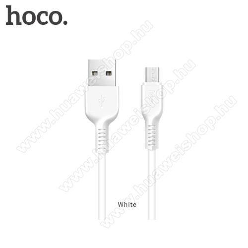 HUAWEI Honor Holly 3HOCO X20 2A adatátvitel adatkábel / USB töltő - USB / microUSB, 1m - FEHÉR