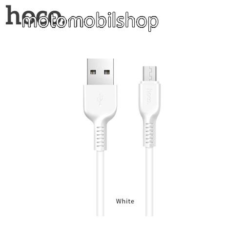 MOTOROLA Moto E4 HOCO X20 2A adatátvitel adatkábel / USB töltő - USB / microUSB, 1m - FEHÉR