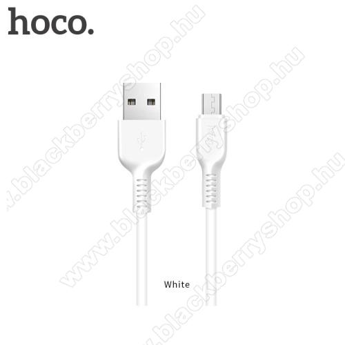 BLACKBERRY 9650 BoldHOCO X20 2A adatátvitel adatkábel / USB töltő - USB / microUSB, 1m - FEHÉR