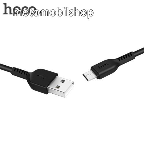 MOTOROLA Wilder (EX130) HOCO X20 2A adatátvitel adatkábel / USB töltő - USB / microUSB, 1m - FEKETE