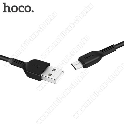 HOCO X20 2A adatátvitel adatkábel / USB töltő - USB / microUSB, 1m - FEKETE