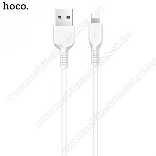 HOCO X20 adatátvitel adatkábel és töltő (lightning 8 pin, 1m, törésgátló, gyorstöltés támogatás) FEHÉR - X20_LIGHT_1M_W - GYÁRI